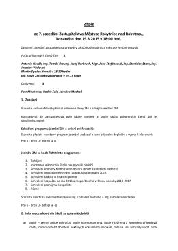 Zápis - 19.3.2015 - Městys Rokytnice nad Rokytnou