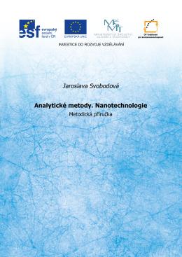 Analytické metody. Nanotechnologie