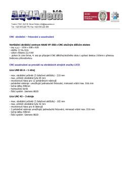 Technické informace ve formátu PDF ke stažení.