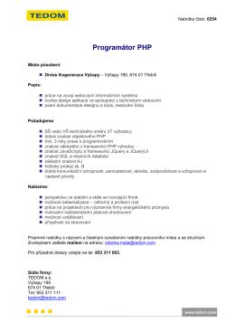 Programátor PHP