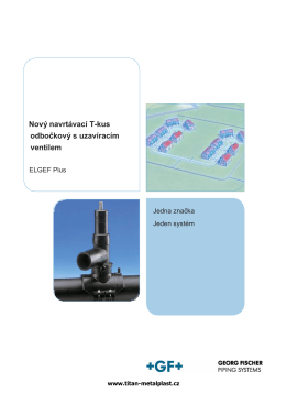 Nový navrtávací T-kus odbočkový s uzavíracím ventilem