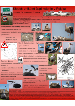 poster - Katedra zoologie