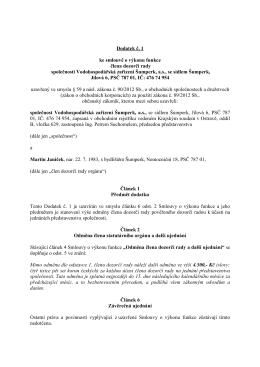 (6_Příloha č. 6 Dodatek smlouvy o výkonu funkce č. 1 Martin Janíček)