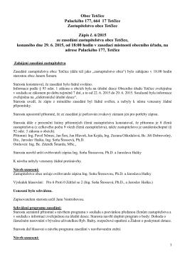 zápis ze zasedání 29.6.2015