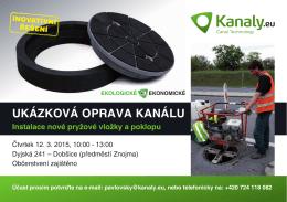UKÁZKOVÁ OPRAVA KANÁLU