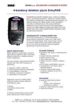4-kanálový detektor plynů EntryRAE