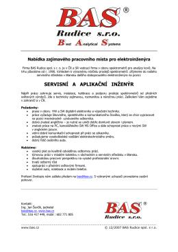 Firma BAS Rudice spol - BAS Rudice spol. s ro