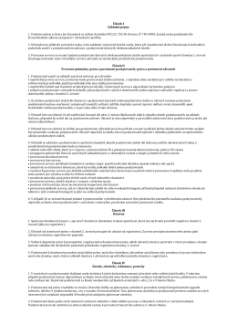 Článek I Základní pojmy 1. Poskytovatelem je firma Jan Kocmánek