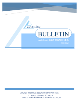 BULLETIN - Audit and tax