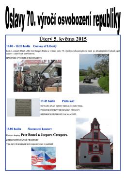 Úterý 5. května 2015 10.00 - 10.20 hodin