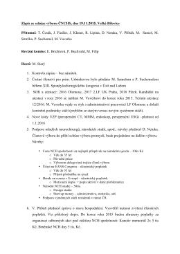 Zápis schůze výboru ČNCHS 11-2015
