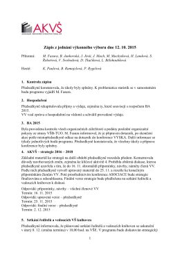 zasedání VV 12. října 2015
