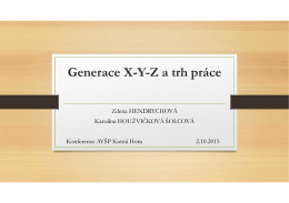 Generace X-Y-Z a trh práce