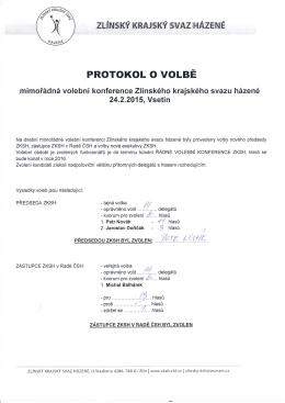 Zpráva volební komise IV. konference ZKSH