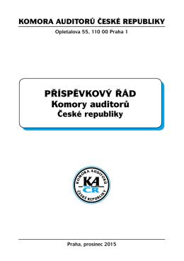 příspěvKový řád Komory auditorů - Komora auditorů České republiky