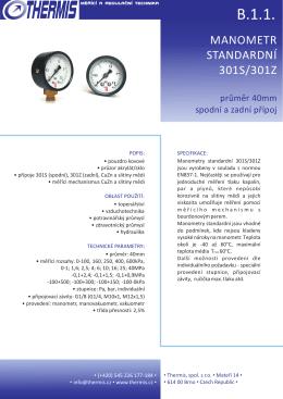 Technický list - Thermis, spol. s ro
