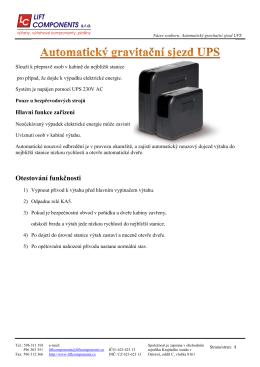Automatický gravitační sjezd UPS