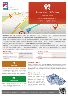 StreetNet POI link - Central European Data Agency, a.s.