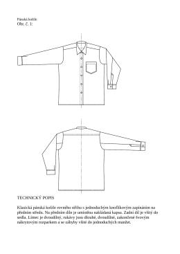 8.1 Technický nákres a popis pánské košile
