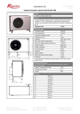 Technický list EA406