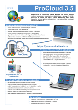 ProCloud 3.5 - ALFA Mikrosystémy, sro