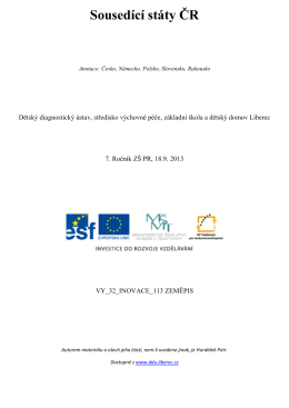 Sousedící státy ČR - Dětský diagnostický ústav a SVP Liberec