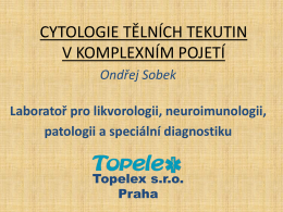 CYTOLOGIE LIKVORU - Klinická laboratoř