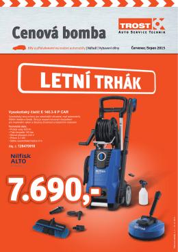 Červenec/Srpen 2015 Vysokotlaký čistič E 140.3-9 P CAR