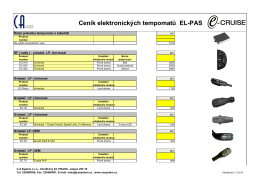 Ceník elektronických tempomatů EL-PAS