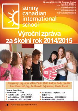 Výroční zpráva 2014-2015 - Sunny Canadian International School