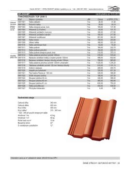 ceník platný od 10.5.2015 Orientační cena za m2 základních tašek