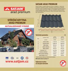 Montážní návod Arad premium