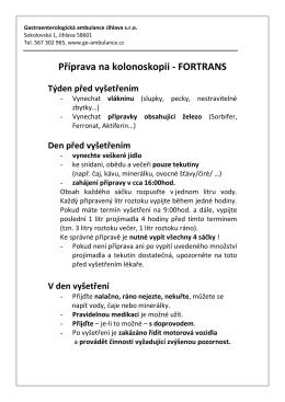 fortrans - Gastroenterologická ambulance Jihlava sro