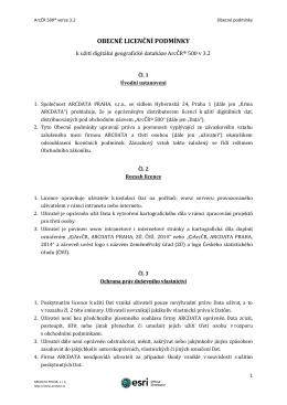 Obecné podmínky - Arcdata Praha, s. r. o.