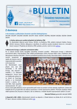 Bulletin ČRK č. 9/2015