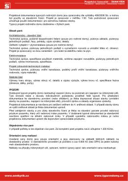 Obsah dokumentace - Projekční kancelář Šenkyřík
