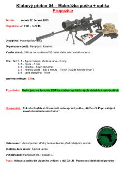 Klubový přebor 04 – Malorážka puška + optika