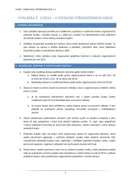 Vyhláška č. 1/2015 - Junák - český skaut, Středočeský kraj, zs