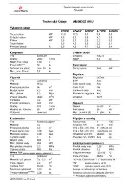 Technické Údaje AM3030Z AKU