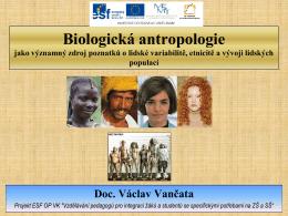 Biologická antropologie