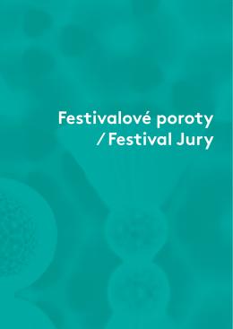 Festivalové poroty ∕ Festival Jury