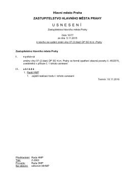 usnesen í - Informační server HLAVNÍHO MĚSTA PRAHY