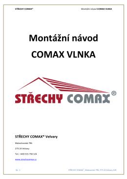 Montážní návod COMAX VLNKA