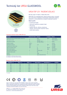 Technický list URSA FDP 1/V