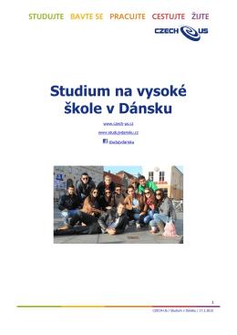 Studium na vysoké škole v Dánsku