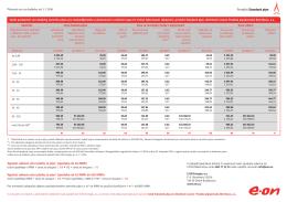 Ceník Standard plyn k 1.1.2016 - distribuční území PP