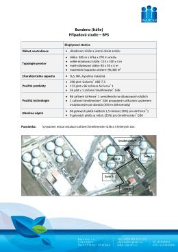 Bondeno (Itálie) Případová studie – BPS