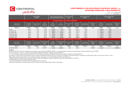 Ceník CENTROPOL PLYNEK - CENTROPOL ENERGY a.s.