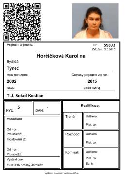 Karolína Horčičková