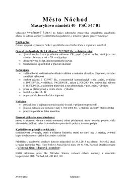 odb. pracovník spec.stavebního úřadu